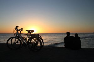 Bicycles-sunset